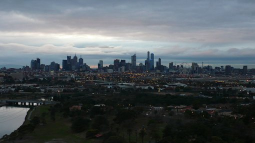 Melbourne at dawn...