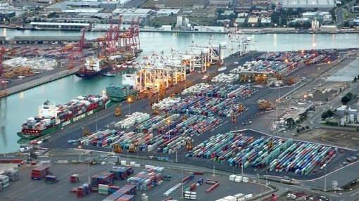 Melbourne Docks - The containers look amazing from the air...