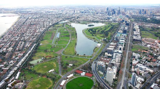 Albert Park Lake - You can work the F-1 track out pretty easily from here...
