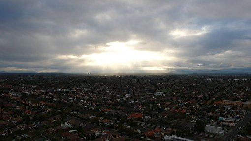 This is what I think it looked like when god appeared...