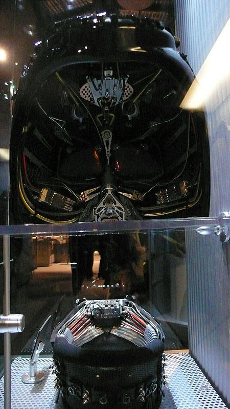 Inside the back of Vader's helmet