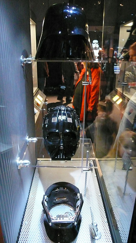 Inside the front of Vader's mask
